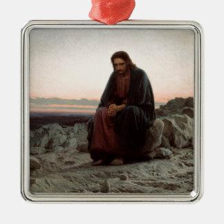 Iwan Kramskoy- Christus in der Wildnis-schönen Silbernes Ornament
