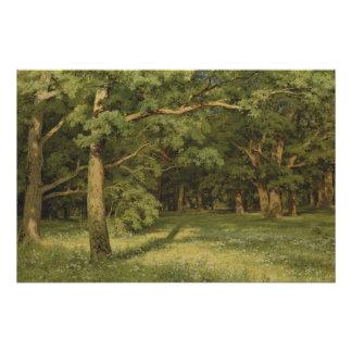 Iwan Shiskin der Wald, der CC0350 klärt Poster