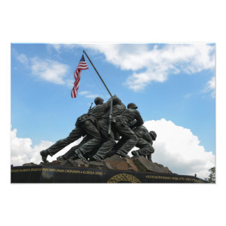 Iwojima-Denkmal im Washington DC Fotodruck