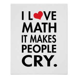 J aime des maths il incite des personnes à pleure