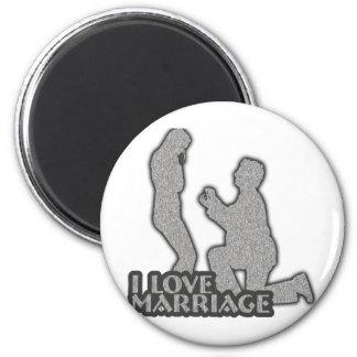 J aime le mariage vous m épouserai aimants pour réfrigérateur