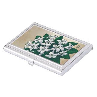 J für Jasmin-Blumen-Monogramm Visitenkarten Etui