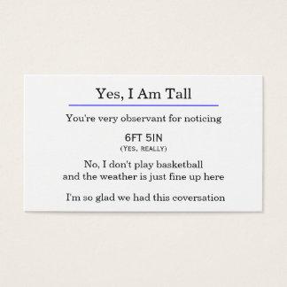"""""""Ja, bin ich hohe"""" Karte"""