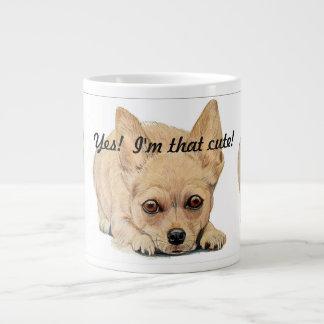 Ja bin ich niedlicher der! Chihuahua durch Carol Jumbo-Tasse
