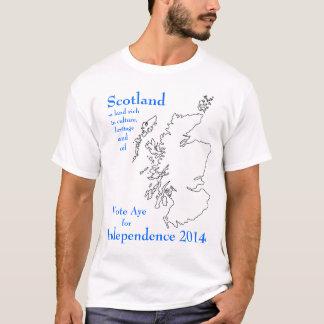 Ja für Unabhängigkeits-Schottland-T-Shirt T-Shirt