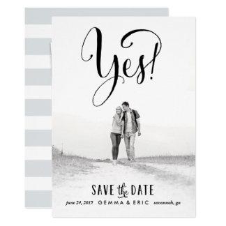 Ja Karte des Fotos Save the Date 12,7 X 17,8 Cm Einladungskarte