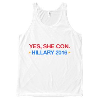 ja legt sie herein. Hillary 2016 Komplett Bedrucktes Tanktop