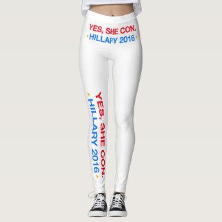 ja legt sie herein. Hillary 2016 Leggings