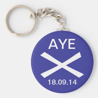 Ja zum schottischen Unabhängigkeits-Schlüsselring Standard Runder Schlüsselanhänger