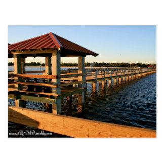 Jachthafen-Docks Postkarte