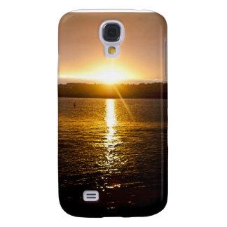 Jachthafen-Sonnenaufgang Galaxy S4 Hülle
