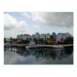 Jachthafenpostkarte Nassaus Bahamas Postkarte