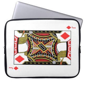 Jack der Diamanten - addieren Sie Ihr Bild Laptopschutzhülle
