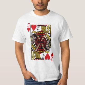 Jack der Herz-Spielkarte T-Shirt