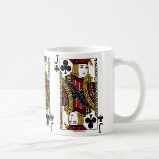 Jack der Verein-Spielkarte Kaffeetasse