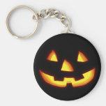 Jack-o'-lantern rougeoyant porte-clés