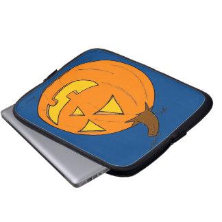Jack o Laternen-blaue Laptop-Hülse Laptopschutzhülle