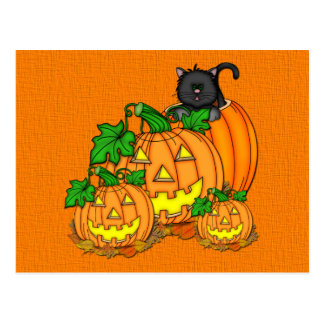 Jack O'Lanterns Halloween Postkarte