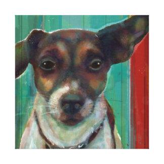 Jack-Russel-Terrier-Leinwand eingewickelte Kunst Leinwand Druck