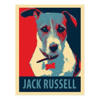 Jack-Russel-Terrier-politische Hoffnungs-Parodie Postkarte