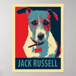 Jack-Russel-Terrier-politisches Parodie-Plakat Poster