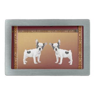 Jack-Russell-Terrier-asiatischer Entwurfs-Chinese Rechteckige Gürtelschnalle