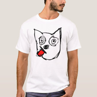 Jack-Russell-Terrier-Hunderote Zunge T-Shirt