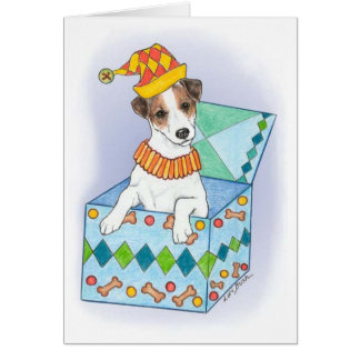 "Jack-Russell-Terrier-""Jack in the Box"" Karte"