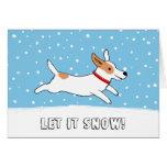 Jack-Russell-Terrier ließ es schneien Hundeweihnac Grußkarten