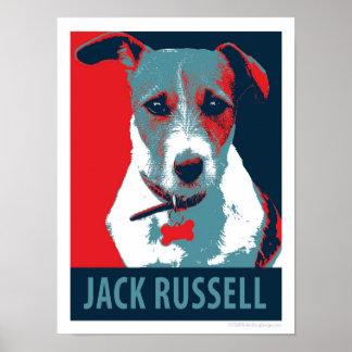 Jack-Russell-Terrier-politisches Parodie-Plakat Poster