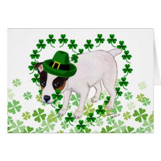 Jack-Russell-Terrier-St Patrick Tageskarte Karte