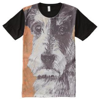 Jack-Russell-Terrier T-Shirt Mit Bedruckbarer Vorderseite