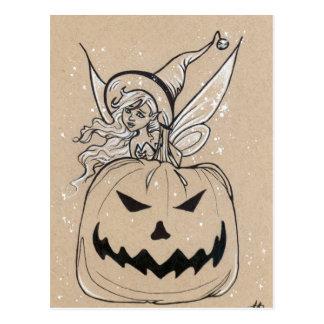 Jackolatern feenhafte Halloween Postkarte