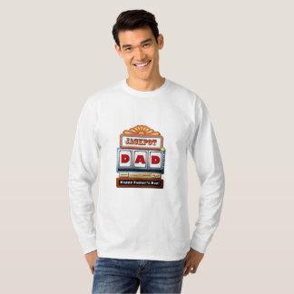 JACKPOT-VATI der Vatertags-langer Hülsen-T - Shirt