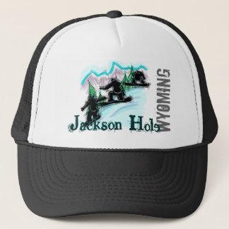 Jackson Hole Wyoming Snowboardhut Truckerkappe
