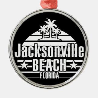 Jacksonville-Strand Silbernes Ornament