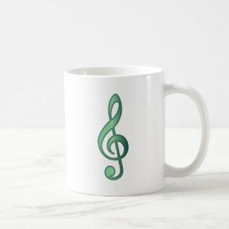 Jade-Gründreifacher Clef Kaffeetasse