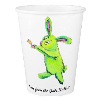 Jade-Kaninchen-Papierschale Pappbecher