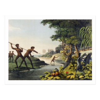 Jagd des Kängurus, Ureinwohner in neuem SüdWale Postkarte