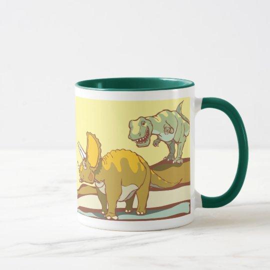 Jagd des Triceratops Tasse