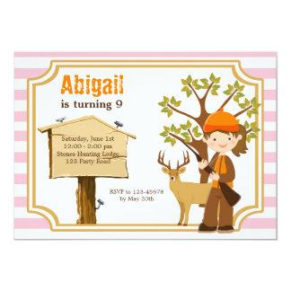 Jagd-Geburtstags-Einladung für Mädchen 12,7 X 17,8 Cm Einladungskarte