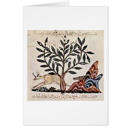 Jagd-Szene durch irakischen Maler des Kraut-Buches Grußkarte