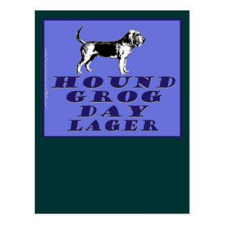Jagdhund-Grog-Tagesblau-Lager Postkarte
