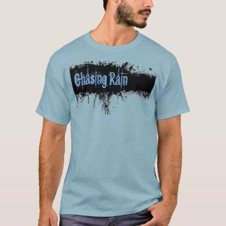 Jagen des Regen-Tinten-Fleck-Blaus T-Shirt