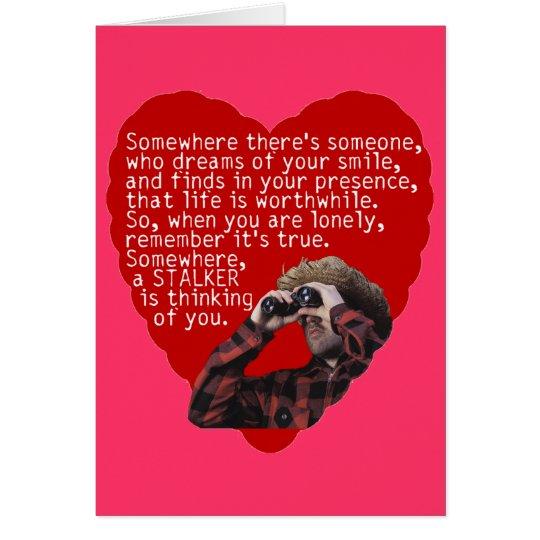 Jäger Anti-Valentinsgrüße Tag Karte