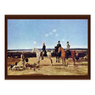 Jäger zu Pferd in der oberen bayerischen Postkarten
