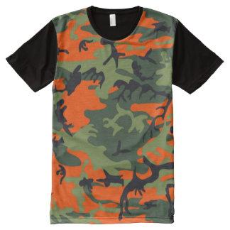 Jägerorangen-Camouflage T-Shirt Mit Komplett Bedruckbarer Vorderseite