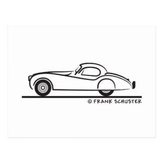 Jaguar 1948 120 postkarte