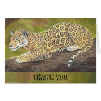 Jaguar danken Ihnen zu kardieren Karte