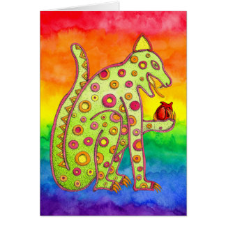 Jaguar, das Herz (Regenbogen, isst) Karte